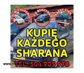 Skup VW Sharan, Każdy Kupię Sharana 2.0 Benzyna / Kupię Toyota E9,E10,E11,E12,E15,Kaczka,Atos,VW Gol